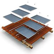 Montážní konstrukce pro 14 panelů