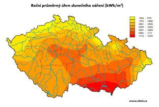 Mapa solárního záření